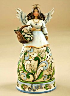 April Birthday Angel from Jim Shore Heartwood Creek by Enesco