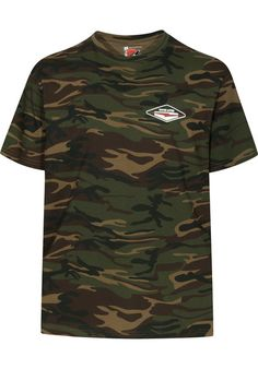 The #Titus #Lites Camou t-shirt is regular-cut and comes with a stylish all-over #camouflage pattern and two prints of the Titus Lites logo - a small one on the chest and a large one on the back. #skateshop #onlineshop