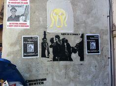 "Street art limoges 87 France Chriistian Beatch  Title : ""Kiss is a joke"""