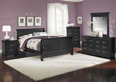 Avignon Black 7 Piece Queen Bedroom Set; $949.96   Furniture.com
