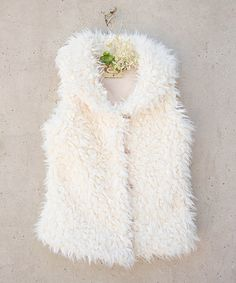 Look at this Cream Faux Fur Belinda Vest - Toddler & Girls by Joyfolie Vest Outfits, Kids Outfits, Little Girl Fashion, Kids Fashion, Toddler Vest, Toddler Girls, Stylish Little Girls, Girly Girls, Faux Fur Vests