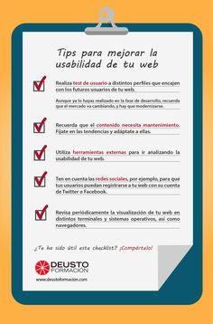 #tips para mejorar la #usabilidad de tu #web