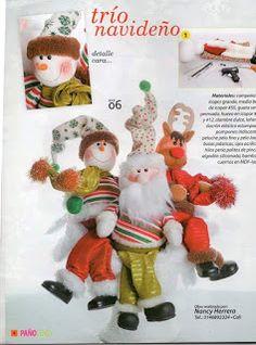 REVISTA PAÑO LENCY FIELTRO NAVIDAD 241 Teddy Bear, Christmas Ornaments, Toys, Holiday Decor, Xmas, Christmas Crafts, Covering Chairs, Art Journals, Light House