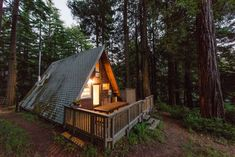 Cozy A-Frame Cabin in the Redwoods