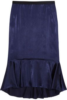 Lanvin Fluted satin skirt | THE OUTNET
