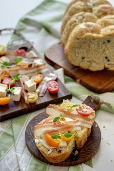 Homemade bread with olives and olive oil
