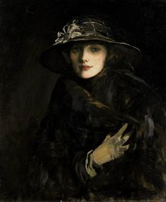 Portrait of Lady Gwendolyne Churchill 1915 - John Lavery