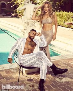 Jennifer Lopez, 51, poses with her Marry Me co-star Maluma, 26 | Daily Mail Online