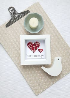 This beautiful hand cut and hand stamped piece has been lovingly designed and handmade by myself. It features two pretty hearts cut from liberty fabric and a hand stamped raised banner put together on quality heavyweight linen card stock. Grandparents Photo Frame, Grandparent Photo, Liberty Fabric, Mother Day Gifts, Beautiful Hands, Hand Stamped, Card Stock, Place Card Holders, Red Hearts