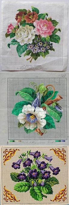 Старинные схемы вышивки крестом