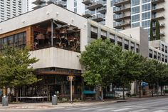The exterior of Malverde, an indoor & outdoor private event space in downtown Austin, Texas. Catered exclusively by La Condesa.