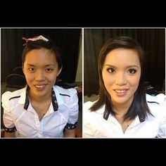 Prewedding makeup, before & after. Bride: Chai Foong #wedding #bride #makeup