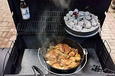Hähnchenschenkel auf Rosmarinkartoffeln aus dem Dutch Oven 3