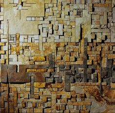 Mohamed_Banawy_Abstract1_2009_80x80 cm_stone
