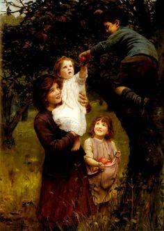 Picking Apples by Arthur John Elsley, 1919