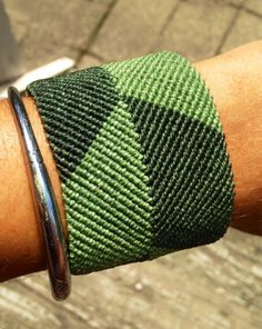 Wide macrame cuff custom order color design width by Knotology
