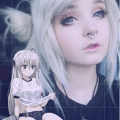 @milkwhore - instagram, white hair, alternative, scene, anime