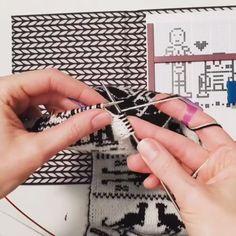 Double Knit Technique - technique of the day Outlander Knitting Patterns, Double Knitting Patterns, Knitting Paterns, Knitting Socks, Baby Knitting, Loom Knitting, Knitting For Dummies, Knitting Videos, Double Crochet
