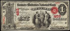 u.s. one dollar bill | 1863 One Dollar Bill National Currency Identification, Information and ...