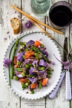 Apron and Sneakers - Cooking & Traveling in Italy and Beyond: Purple Potatoes, Grapefruit and Asparagus Salad