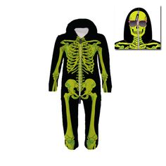 Radioactive Skeleton Kid's Belovesie Hooded Jumpsuit