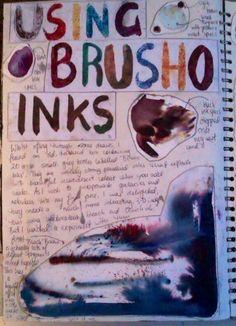 'Brusho' ink experiments Brusho, Gcse Art, Sketchbooks, Textile Art, Colours, Journal, Ink, Craft, Artwork