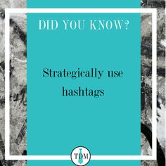 Use company branded hashtags Use trending hashtags to caputre your audience Use content reflection hashtags Use call-to-action hashtags Trending Hashtags, Branding Agency, Call To Action, Business Tips, Did You Know, Reflection, Content, Marketing