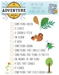 Scavenger Hunt Printable: Snag this free Scavenger Printable for your next summer adventure, perfect for camping or camp themed party and to keep the kids busy at any age! Outdoor Scavenger Hunts, Nature Scavenger Hunts, Scavenger Hunt For Kids, Scavenger Hunt Birthday, Summer Activities, Craft Activities, Toddler Activities, Camping Activities, Nature Activities