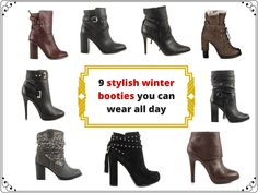 Winter doesn't have to be a time without stylish footwear. Have a look at these 9 booties which will make you enjoy the cold times. Winter Fashion, High Heels, Articles, Footwear, Booty, Cold, Times, Stylish, How To Wear