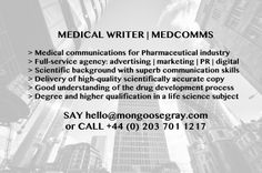 #medwriter #pharma #MedComms #MedEd #fullservice #agency #copywriting #drugdevelopment #medical #lifescience #MGTJOBS #JOBS