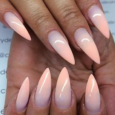 Ombre Stiletto Nail Design