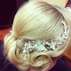 Trial Bridal up-do. #weddinghair #brides #updo #hairstyles.   Hair by Hollie Jacques at LUX salon Stockton CA.