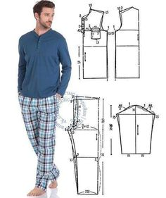 Best 10 12 enchanting sewing patterns clone your clothes ideas – SkillOfKing. T Shirt Sewing Pattern, Mens Sewing Patterns, Sewing Men, Pajama Pattern, Sewing Pants, Pants Pattern, Clothing Patterns, Sewing Paterns, Underwear Pattern