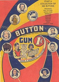 Vintage button ad