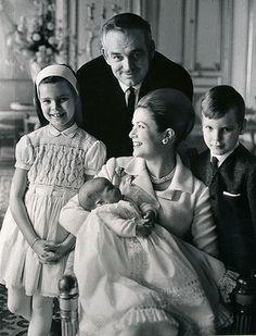 Royal Family of Monaco, Princes Rainier & Albert, Princesses Grace, Stephanie & Caroline.