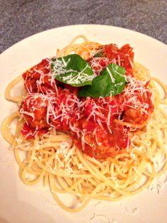Pork meatballs in tomato sauce http://theglasgowscullery.com/2014/03/04/pork-meatballs-in-tomato-sauce/