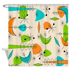 Atomic Boomerangs Shower Curtain @ CafePress