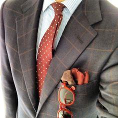 men styles, color, burnt orange, tie, suit, men fashion, men's clothing, oranges, pocket squares