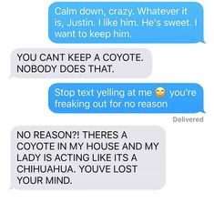 Wife Texts Husband She Brought Home A Dog, He Freaks Out When She Sends A Pic Of A Coyote