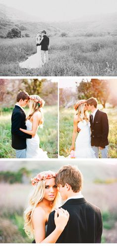 bohemian wedding, sweet young couple