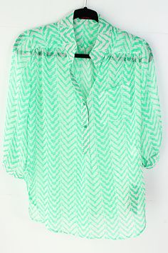Mint Chevron Tunic
