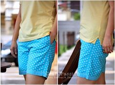 Get the fully lined short pants sewing pattern and tutorial for free. You are going to love wearing it, so comfortable!!!!