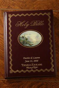 "Thomas Kinkade ""Lighting the Way Home"" Family Bible-NKJV $49.99 http://www.celebrateyourfaith.com/Thomas-Kinkade-quot-Lighting--P229C1571.cfm"