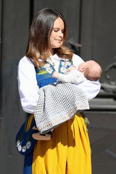 Princess Sofia of Sweden and son Prince Alexander of Sweden attend the National Day Celebrations on June 6, 2016 in Stockholm, Sweden.