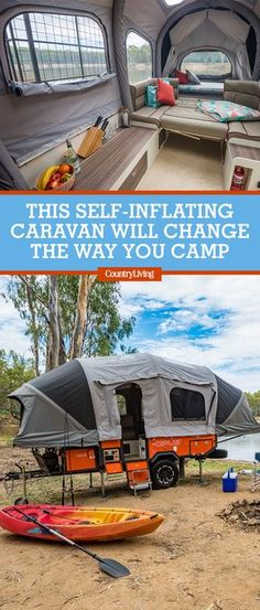 With spring and summer right around the corner, it's time to start planning your next camping trip—and thanks to this new self-inflating system, you can set up camp just about anywhere. In just 90 seconds, the Air Opus trailer transforms from a compact aluminum box to a full-size camper that's roomy enough to sleep groups of up to six. #camping #campers #bestcampers