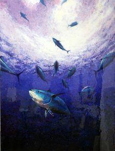 Tuna in Blue. Life Aquatic, Tuna, Underwater, Sci Fi, Ocean, Group, Pets, Animals, Science Fiction
