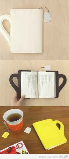 book cover with teabag bookmark