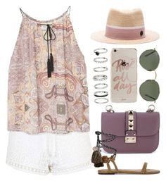 """""""Sandals (outfit only) 1812"""" by boxthoughts ❤ liked on Polyvore featuring Topshop, MANGO, Valentino, Isabel Marant, Ray-Ban, Maison Michel and Sonix"""