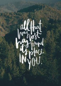 """""""All that was lost has found its place in You."""" -Paul McClure. Song: """"Jesus We Love You."""" // http://bit.ly/BMwwnbs #WeWillNotBeShaken"""