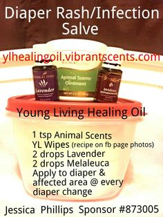 All natural Diaper Rash/Infection Salve with Young Living Essential Oils. Get yours wholesale @ylhealingoil.vibrantscents.com